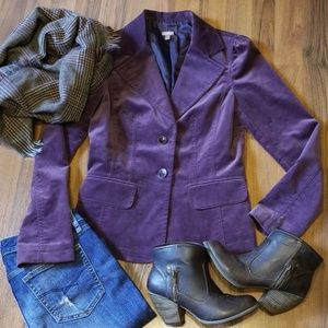 {Halogen} Purple Velvet Blazer